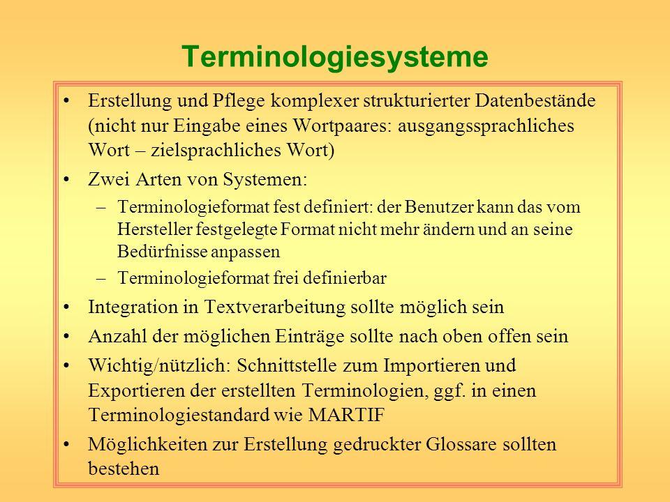 Terminologiesysteme