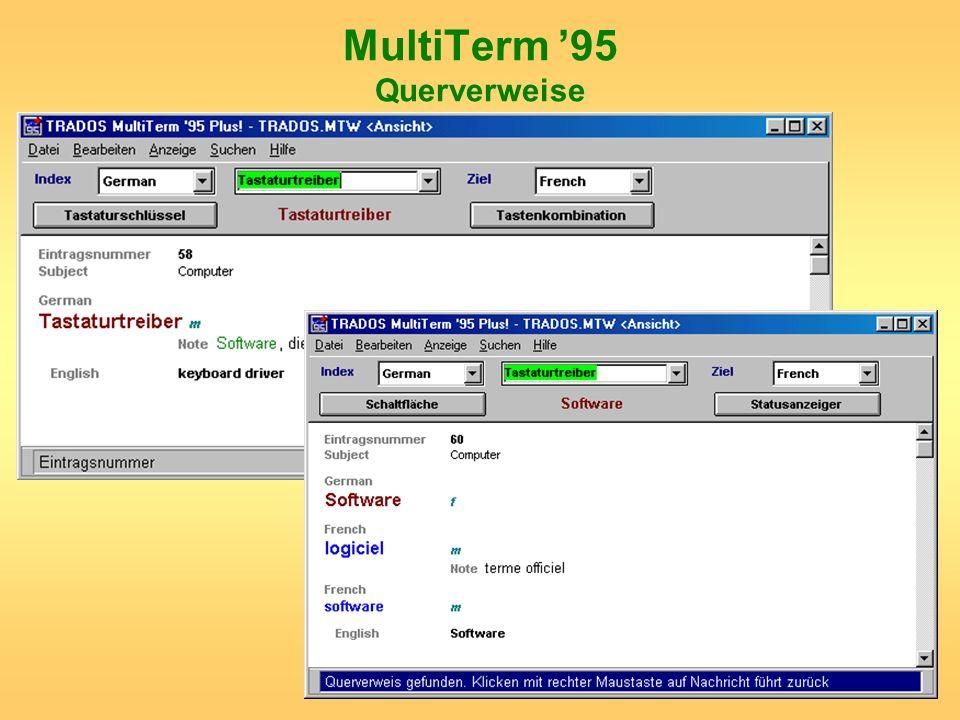 MultiTerm '95 Querverweise