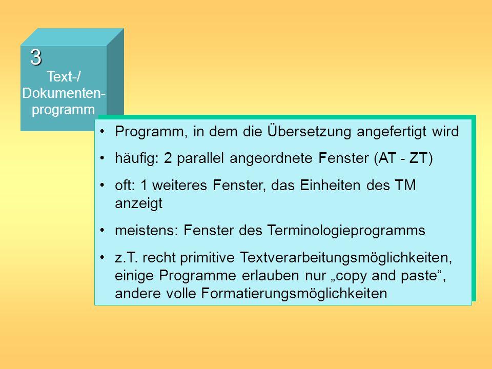 3 Programm, in dem die Übersetzung angefertigt wird