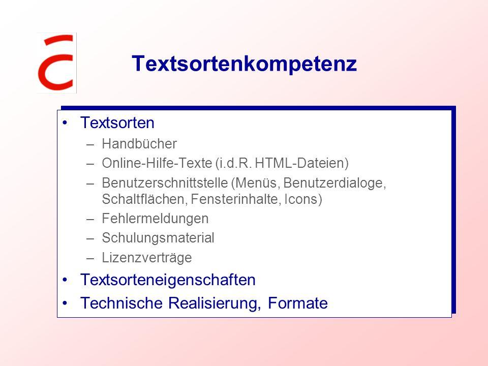 Textsortenkompetenz Textsorten Textsorteneigenschaften