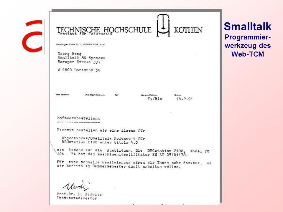 Smalltalk Programmier-werkzeug des Web-TCM