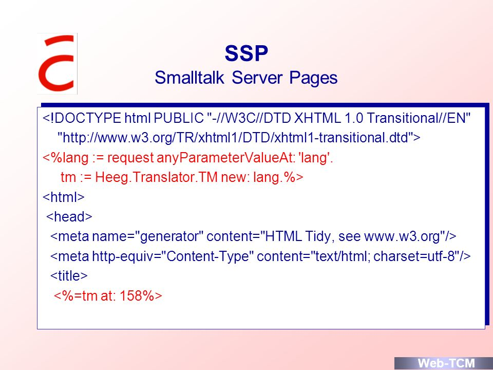 SSP Smalltalk Server Pages
