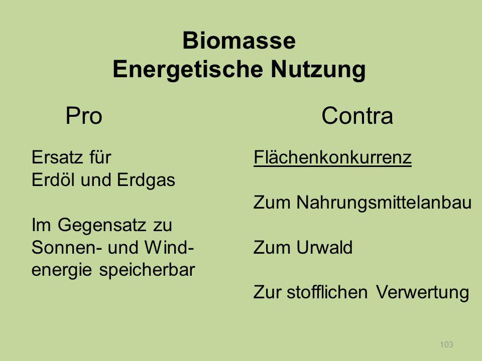Biomasse Energetische Nutzung
