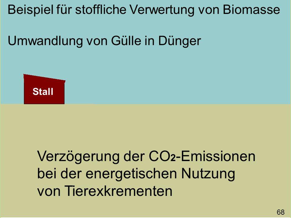 Beispiel für stoffliche Verwertung von Biomasse