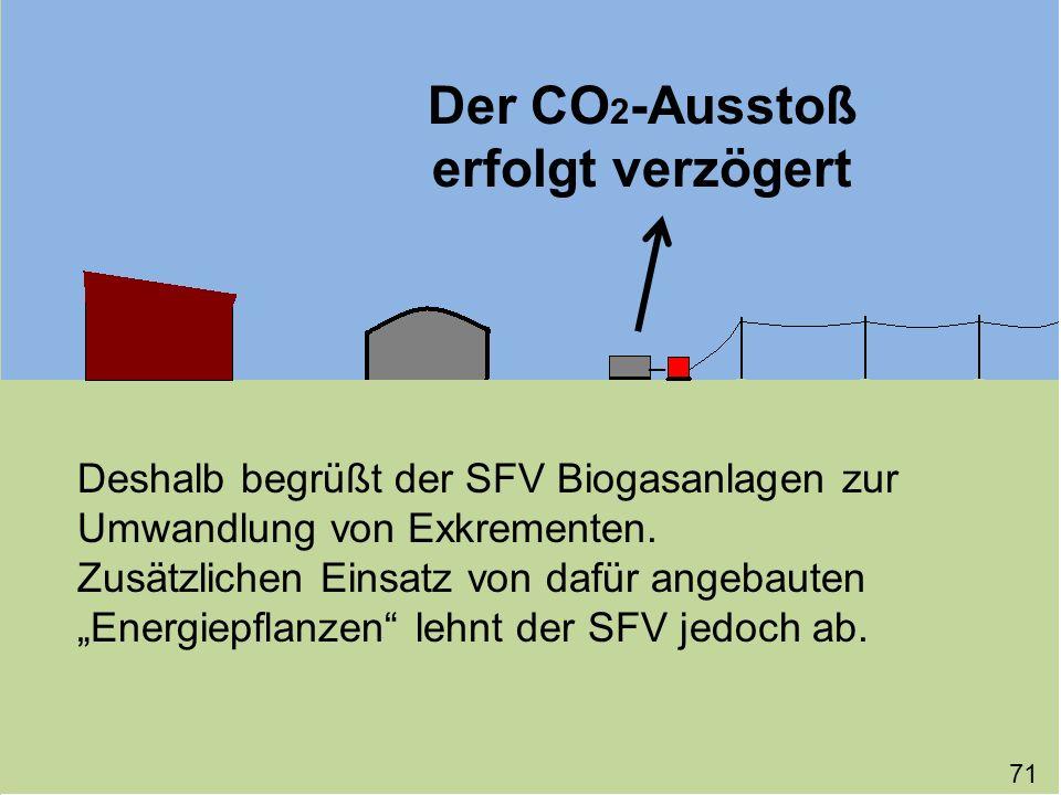 Der CO2-Ausstoß erfolgt verzögert
