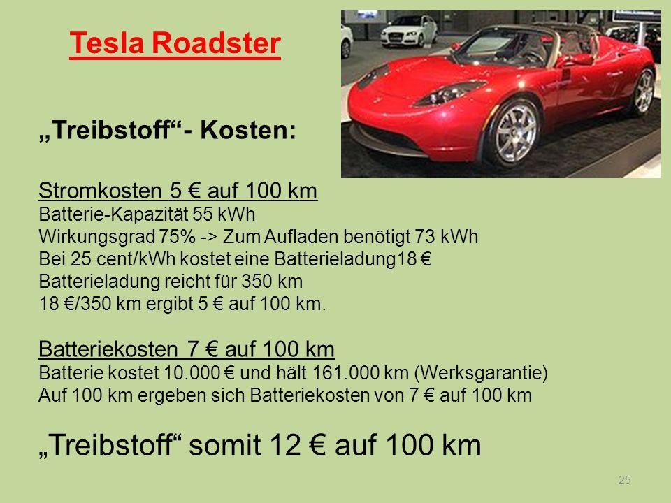 """""""Treibstoff somit 12 € auf 100 km"""