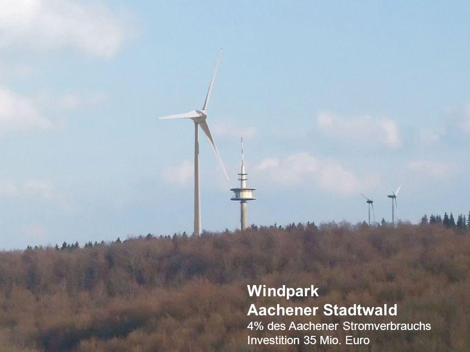Windpark Aachener Stadtwald 4% des Aachener Stromverbrauchs