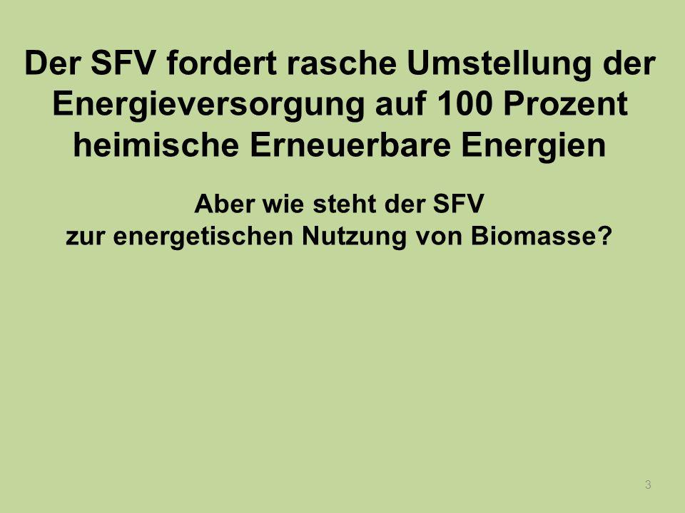 zur energetischen Nutzung von Biomasse