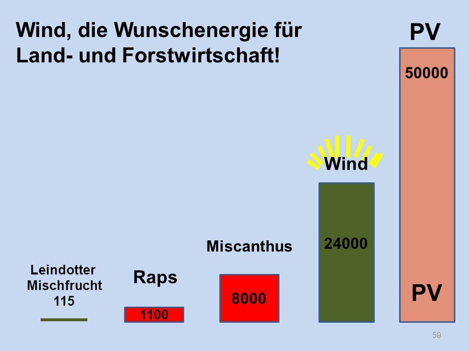 PV PV Wind, die Wunschenergie für Land- und Forstwirtschaft! Wind Raps