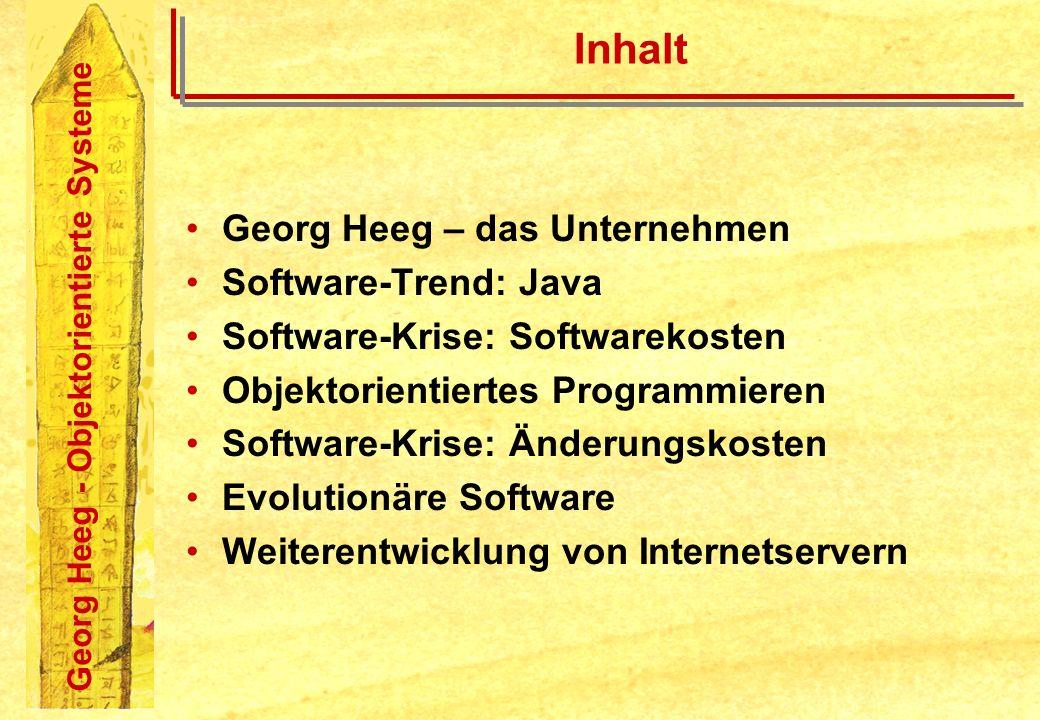 Inhalt Georg Heeg – das Unternehmen Software-Trend: Java