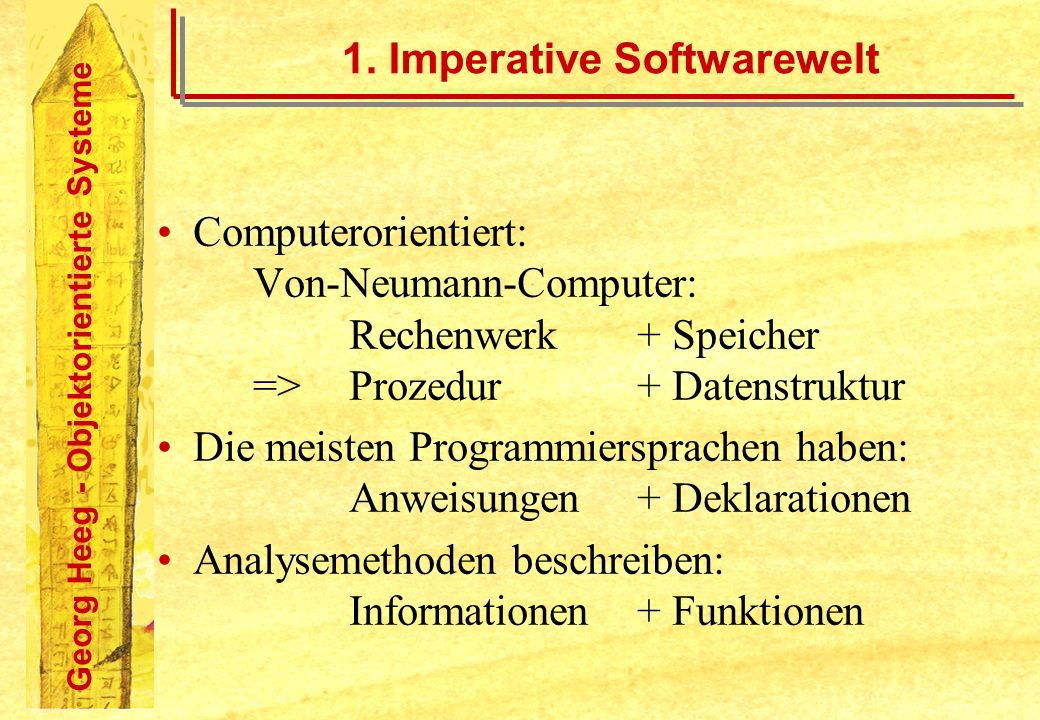 1. Imperative Softwarewelt
