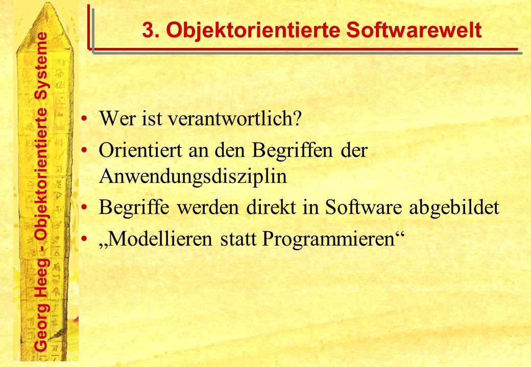3. Objektorientierte Softwarewelt
