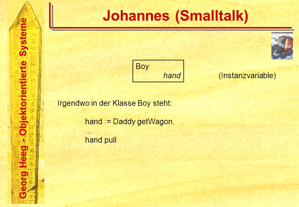 Johannes (Smalltalk) Boy hand (Instanzvariable)