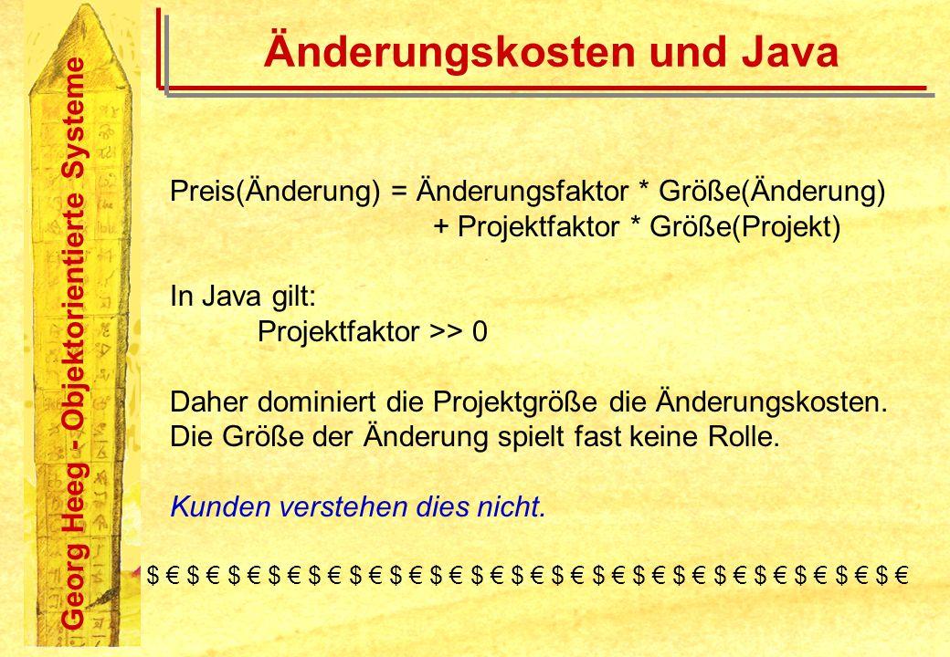 Änderungskosten und Java