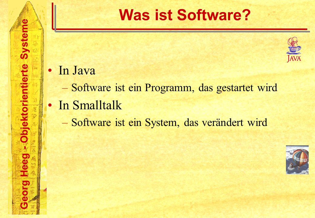 Was ist Software In Java In Smalltalk