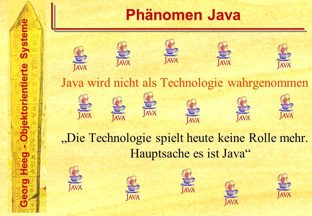 Java wird nicht als Technologie wahrgenommen