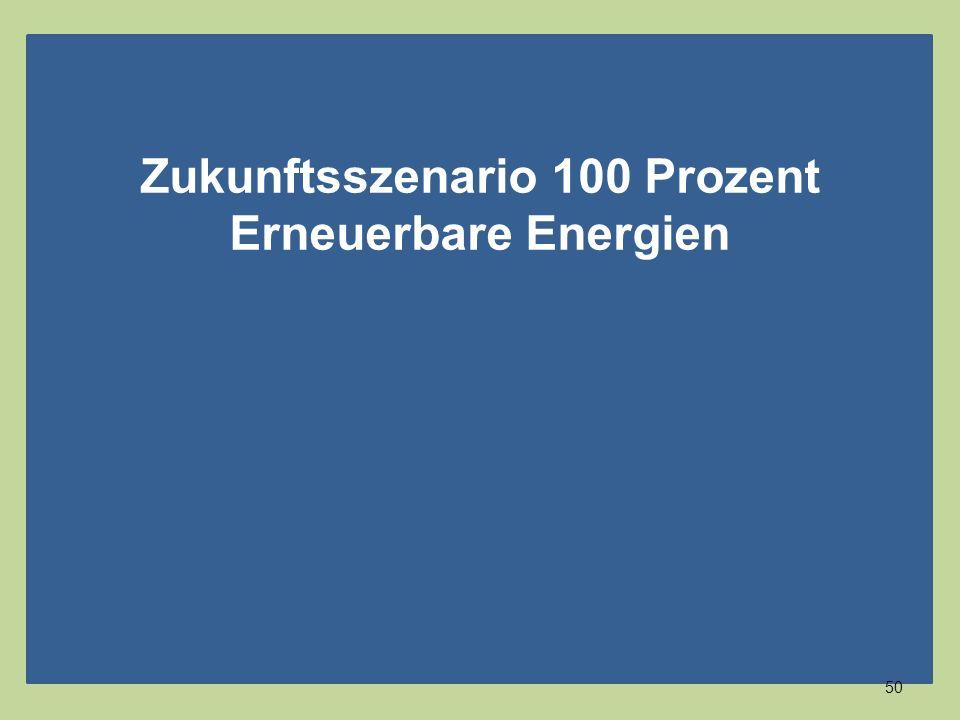 Zukunftsszenario 100 Prozent Erneuerbare Energien