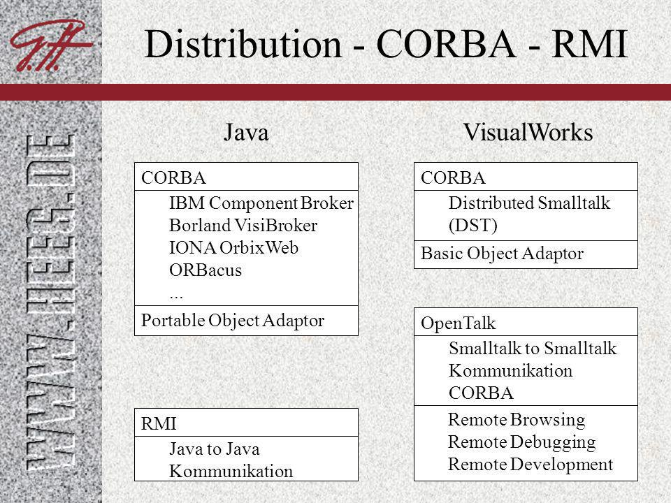 Distribution - CORBA - RMI