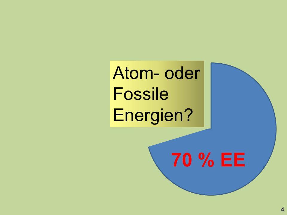 70 % EE Atom- oder Fossile Energien
