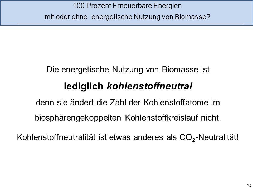 lediglich kohlenstoffneutral