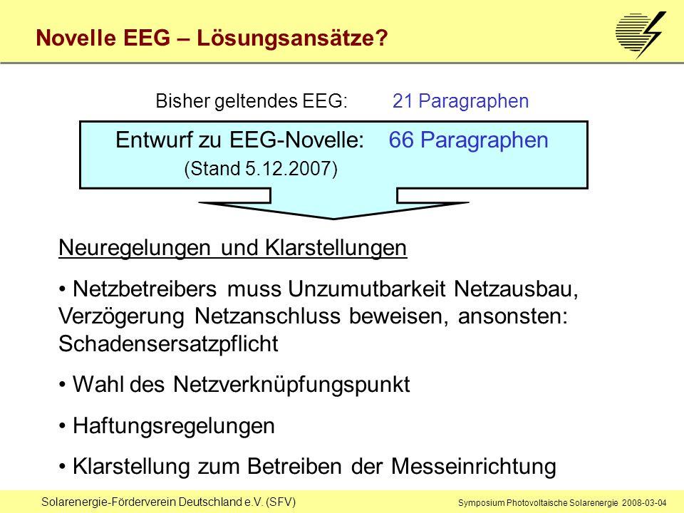 Bisher geltendes EEG: 21 Paragraphen