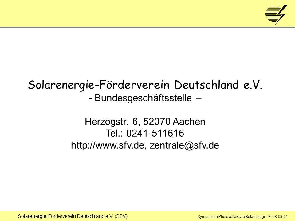 Tel.: 0241-511616 http://www.sfv.de, zentrale@sfv.de