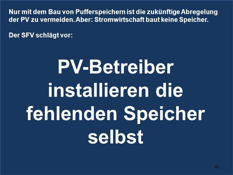 PV-Betreiber installieren die fehlenden Speicher selbst