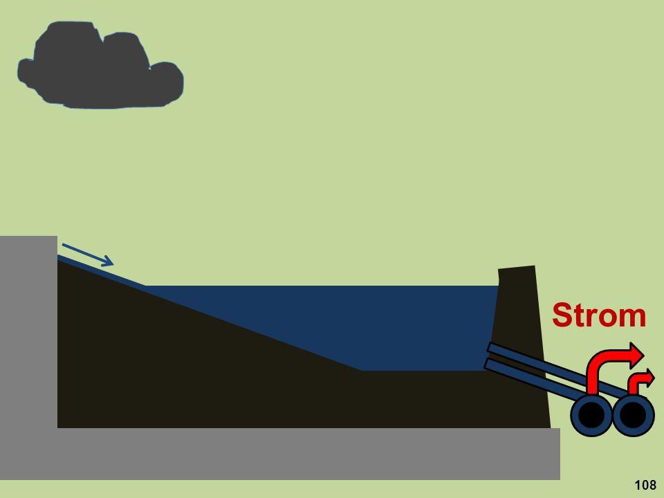 Strom Das Staubecken leert sich dabei schneller als im bisher üblichen Grundlastbetrieb. 108
