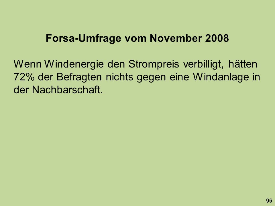 Forsa-Umfrage vom November 2008
