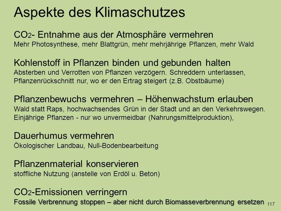 Aspekte des Klimaschutzes