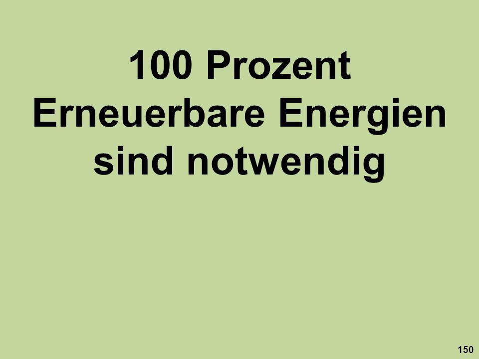 100 Prozent Erneuerbare Energien sind notwendig