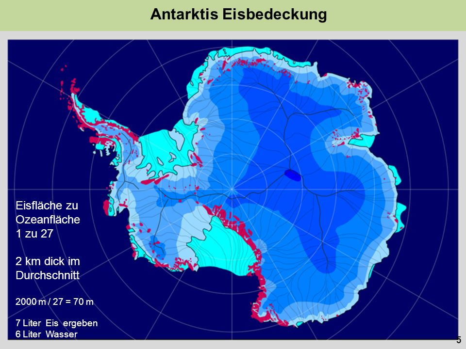 Antarktis Eisbedeckung