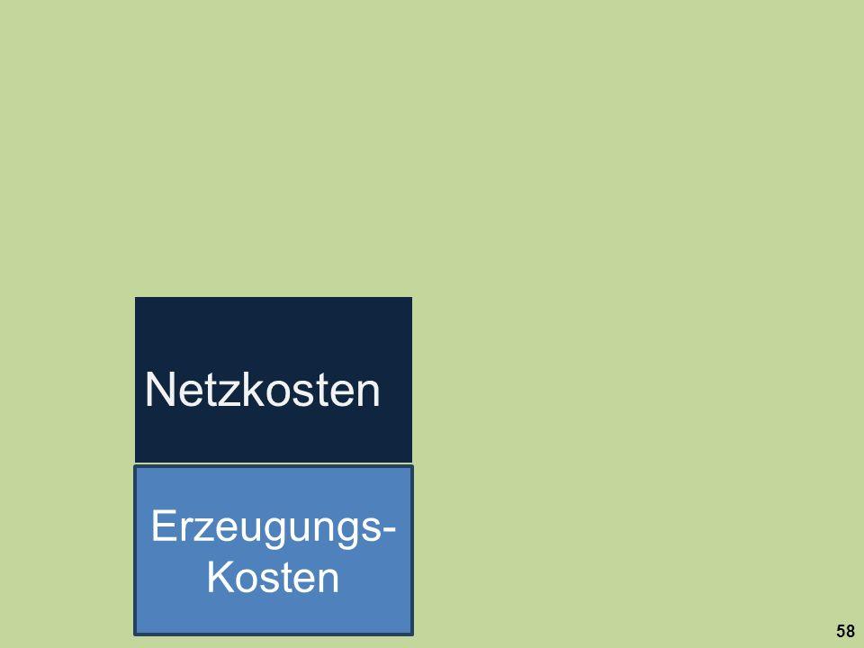 Netzkosten Erzeugungs-Kosten