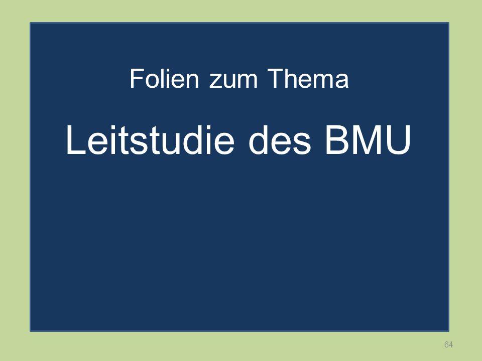 Folien zum Thema Leitstudie des BMU