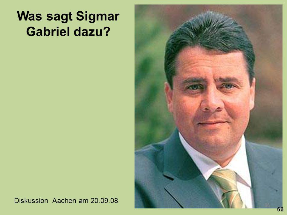 Was sagt Sigmar Gabriel dazu