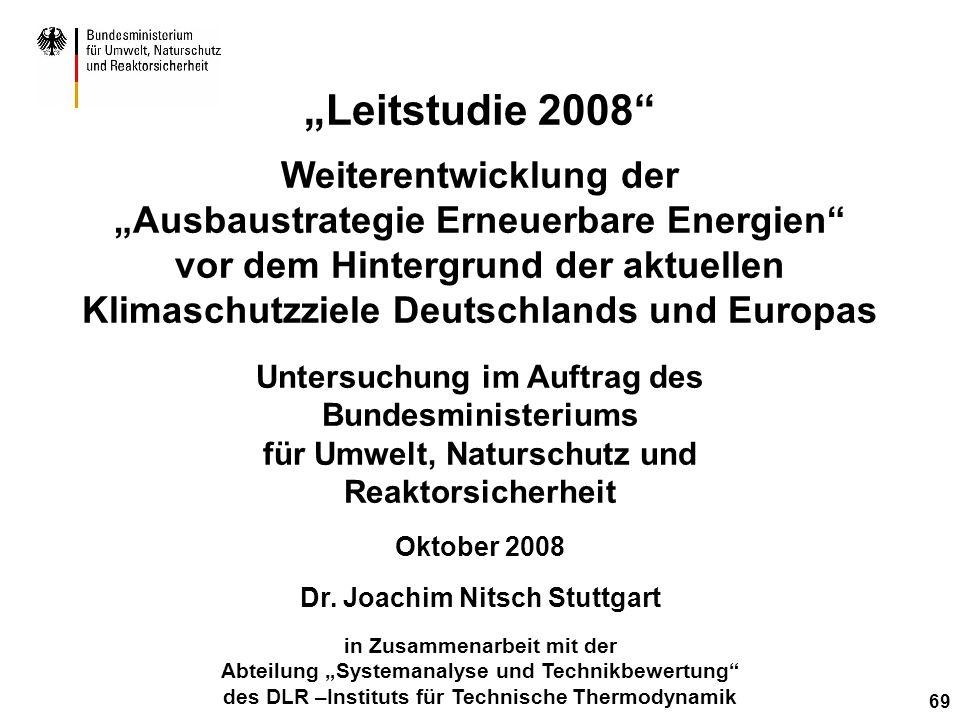 """""""Leitstudie 2008 Weiterentwicklung der"""