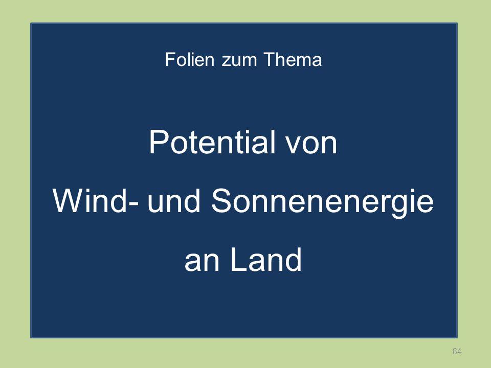 Potential von Wind- und Sonnenenergie an Land