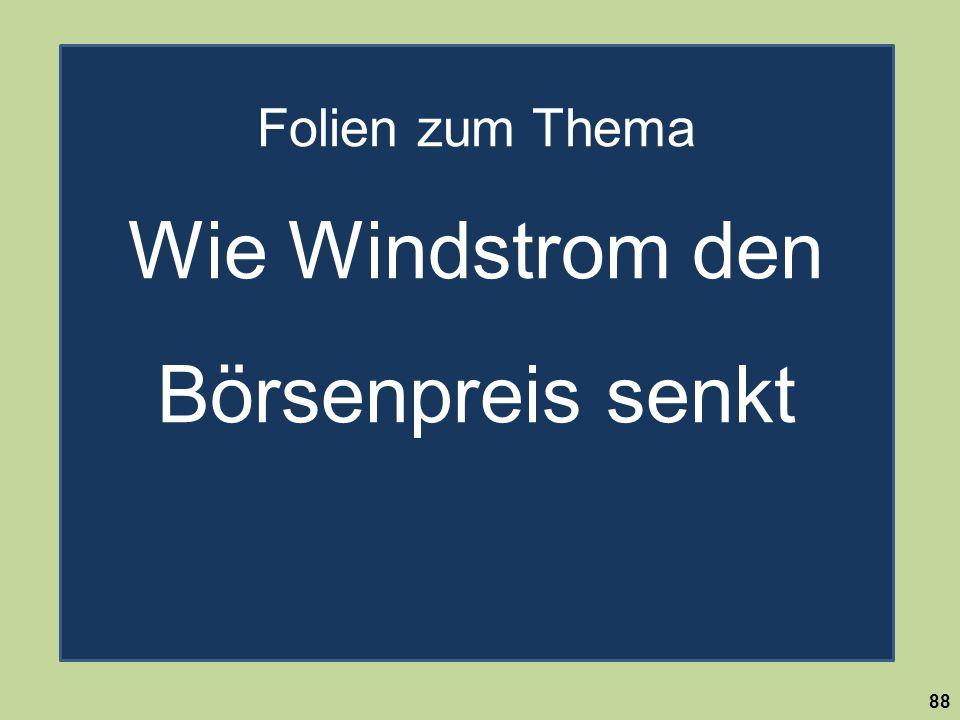 Folien zum Thema Wie Windstrom den Börsenpreis senkt
