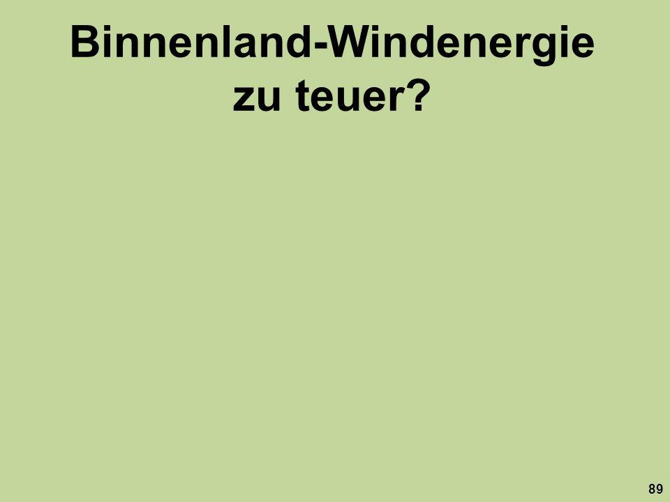 Binnenland-Windenergie zu teuer
