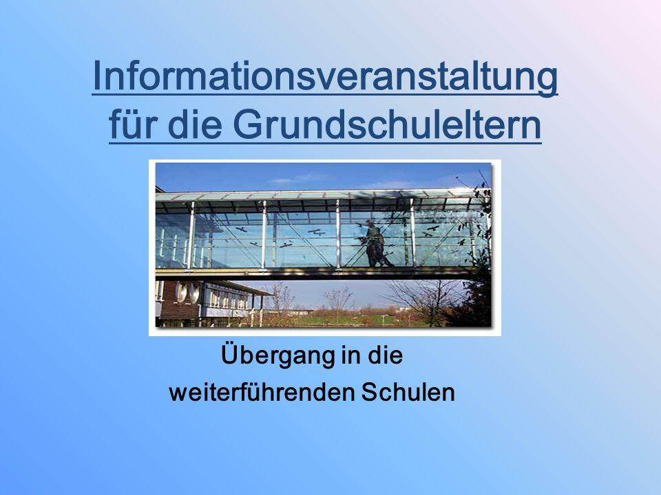 Informationsveranstaltung für die Grundschuleltern