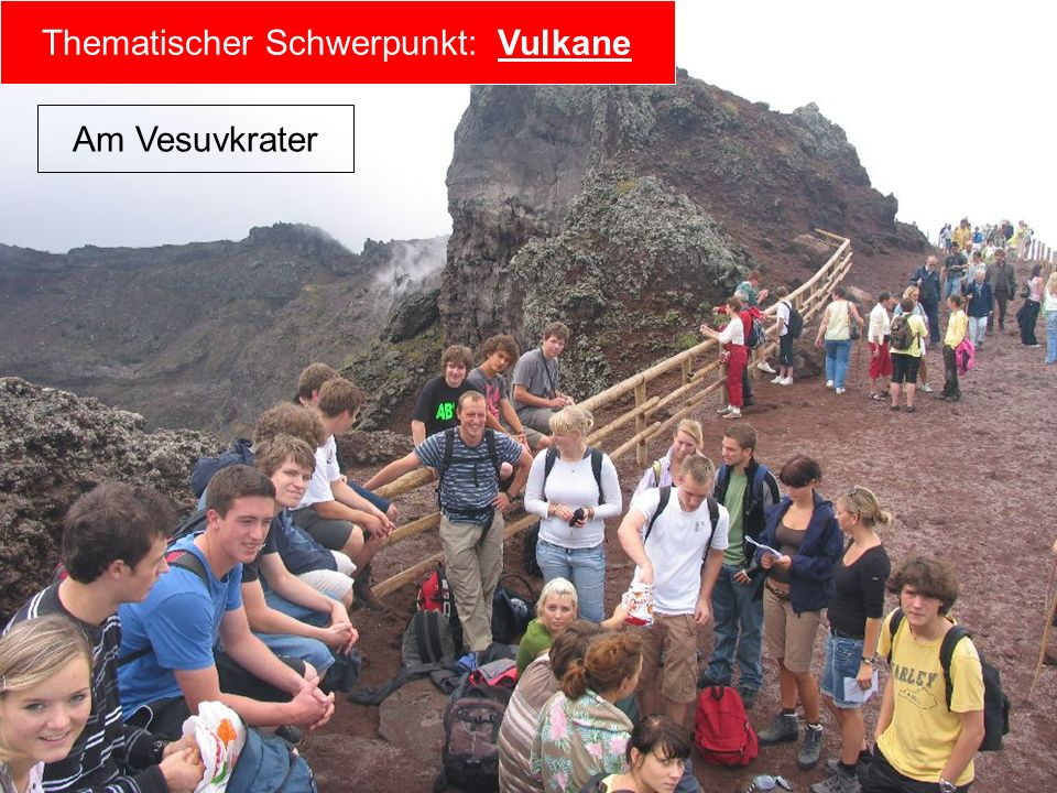 Thematischer Schwerpunkt: Vulkane