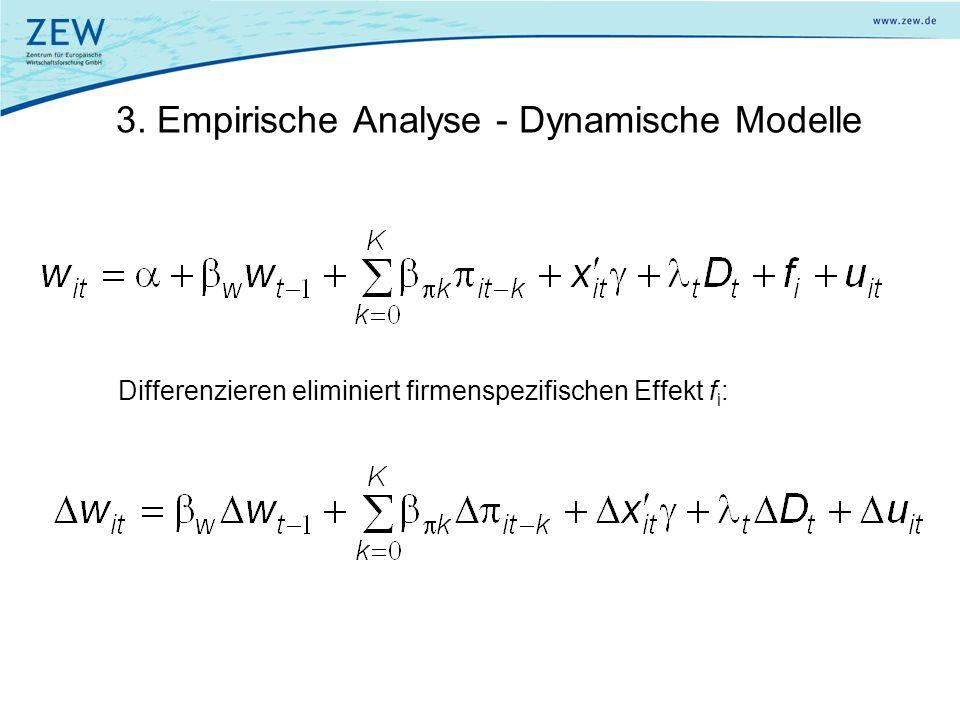 3. Empirische Analyse - Dynamische Modelle
