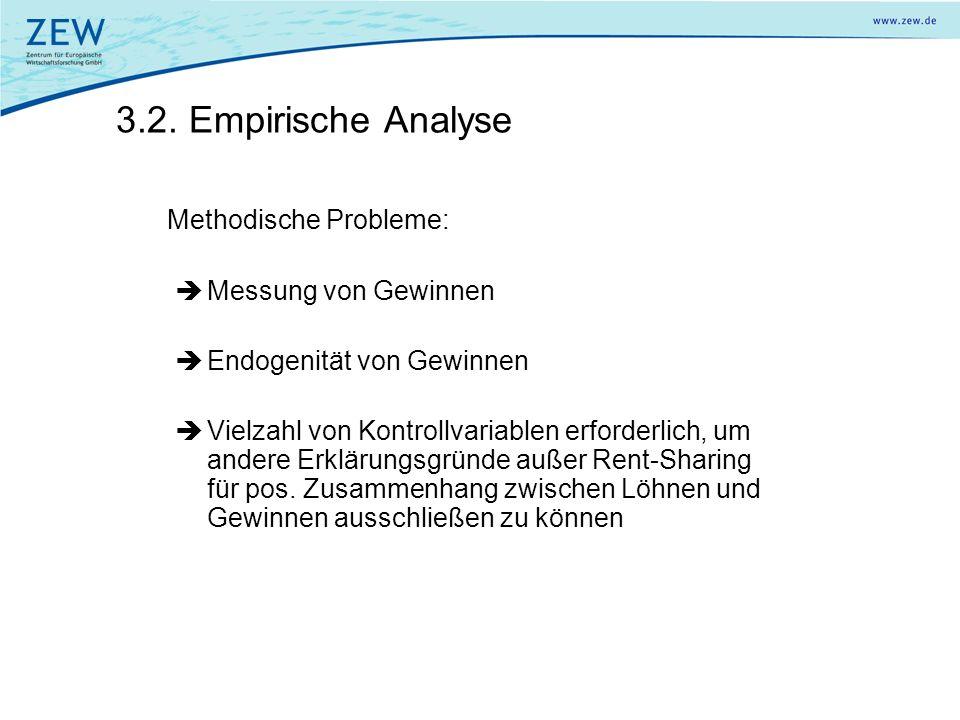 3.2. Empirische Analyse Messung von Gewinnen Endogenität von Gewinnen
