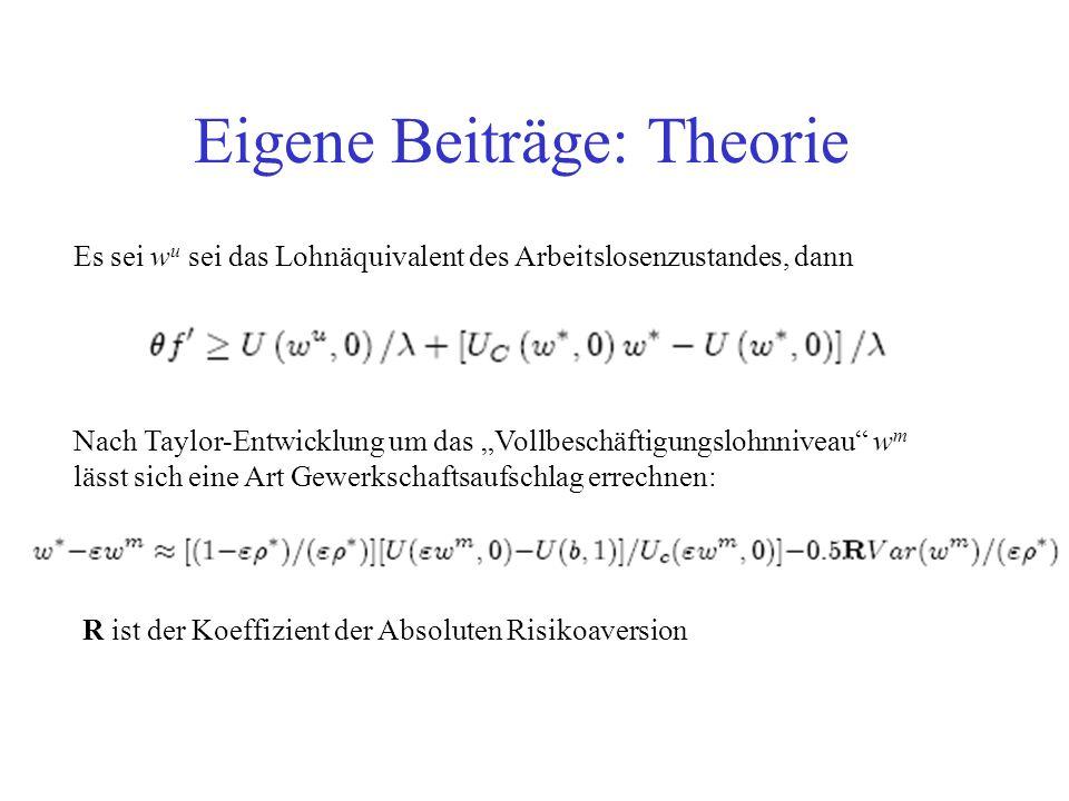 Eigene Beiträge: Theorie