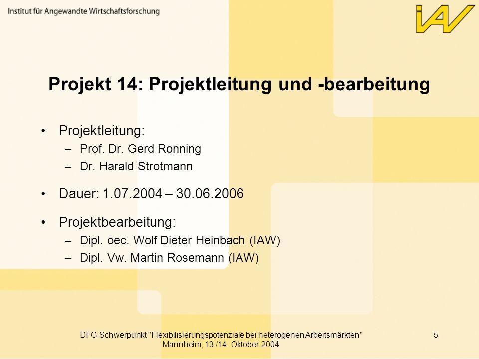 Projekt 14: Projektleitung und -bearbeitung