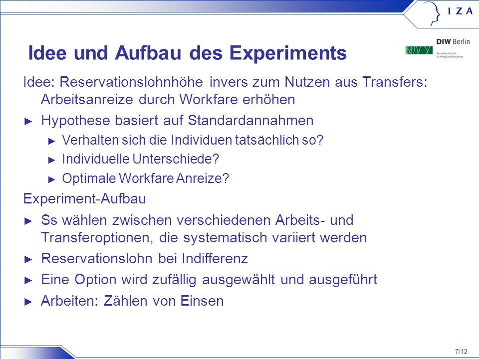 Idee und Aufbau des Experiments