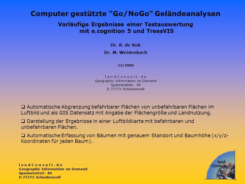 Computer gestützte Go/NoGo Geländeanalysen