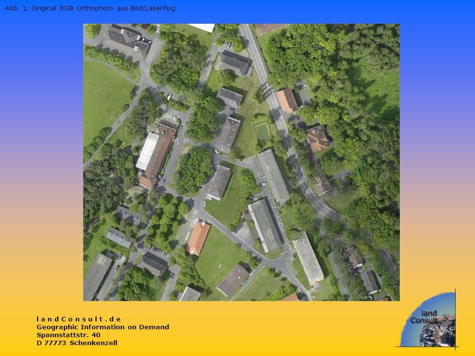 Abb. 1: Original RGB Orthophoto aus Bild/Laserflug