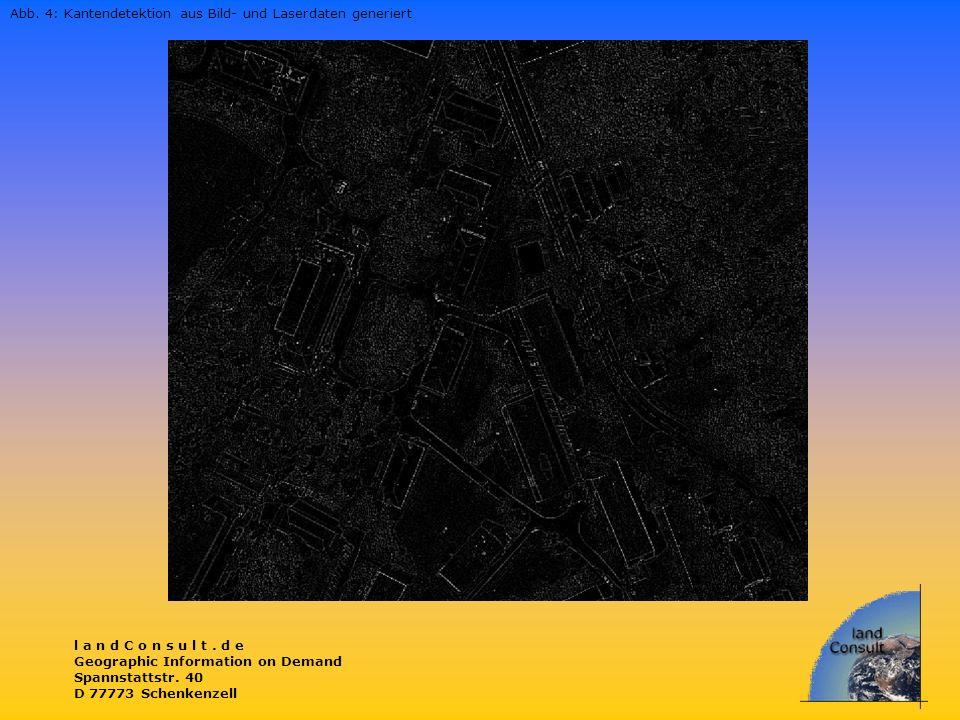 Abb. 4: Kantendetektion aus Bild- und Laserdaten generiert