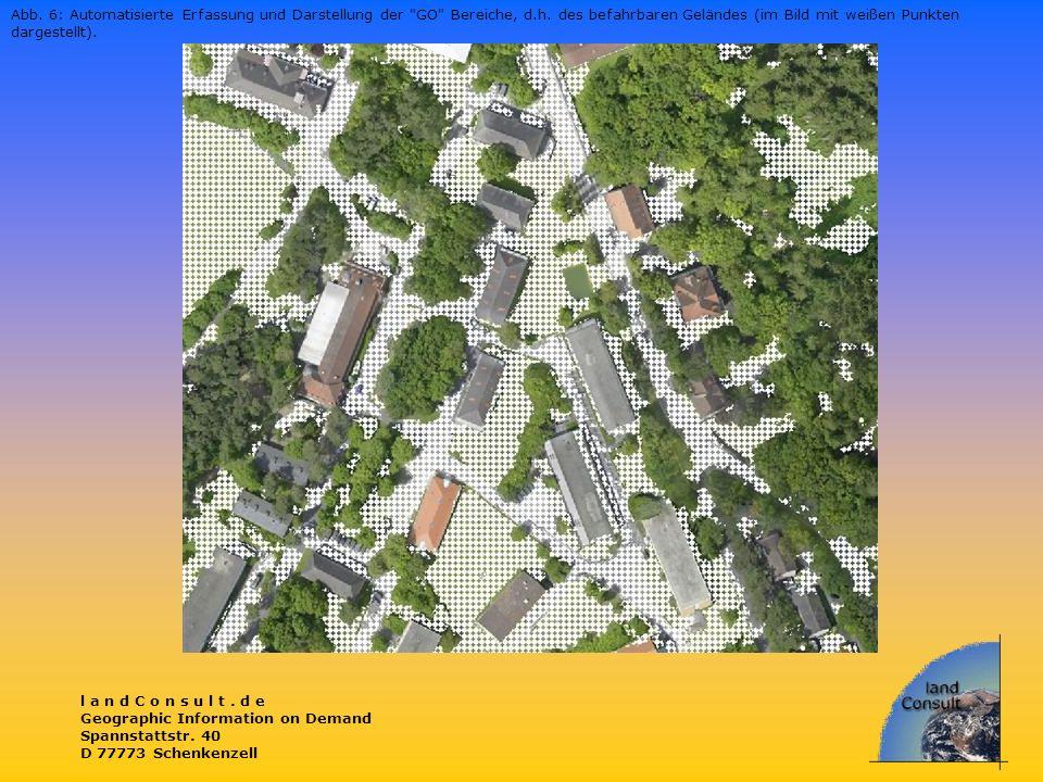 Abb. 6: Automatisierte Erfassung und Darstellung der GO Bereiche, d